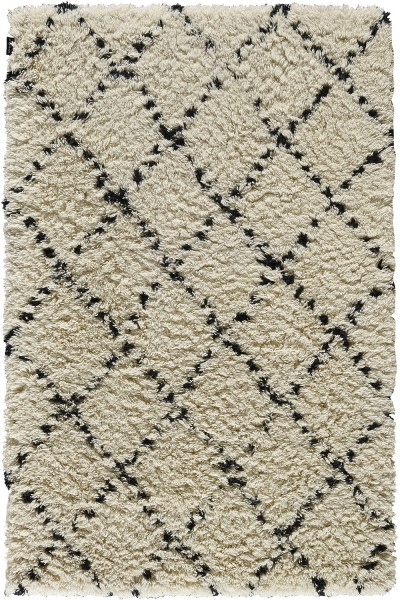 Hochflor Shaggy Teppich Angelo Zagora 8902-500 creme schwarz