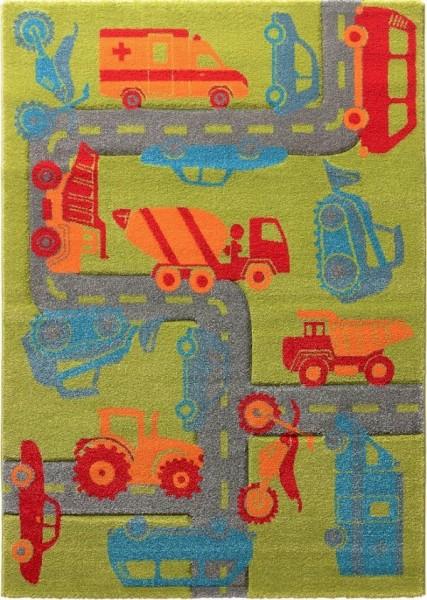 Kinder Teppich Sigikid Traffic SK-21967-040 grün
