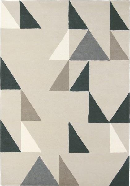 Kurzflor Designer Teppich Scion Modul 26704 Charcoal silber