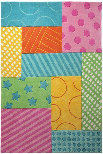 Kinder Teppich Esprit Patchwork Garden ESP-3815-02 multicolor
