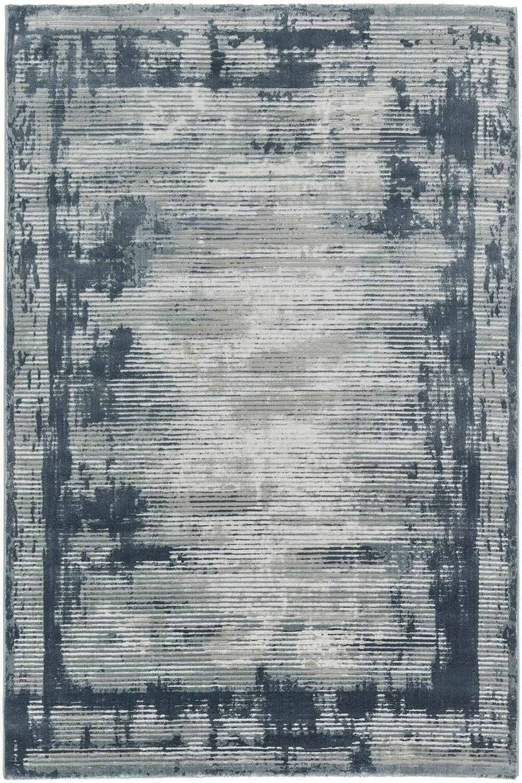 teppich sch ner wohnen brilliance 181 020 streifen blau raum quadrat fashion your room der. Black Bedroom Furniture Sets. Home Design Ideas