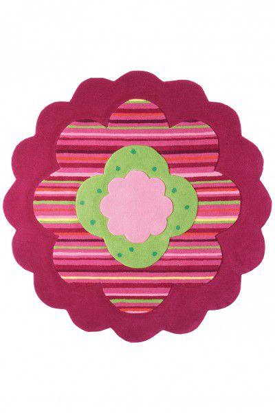 Teppich Esprit Flower Shape ESP-2840-06 rosa 100 cm rund