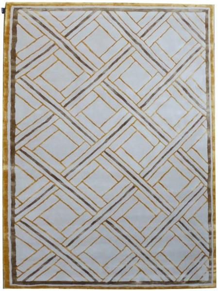 Kurzflor Designer Teppich Angelo London 640-AD2-033 beige gold
