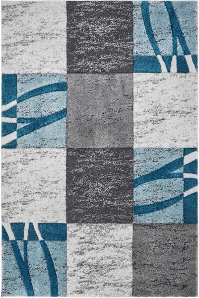 Kurzflor Designer Teppich Obsession Broadway 282 ocean / grau blau