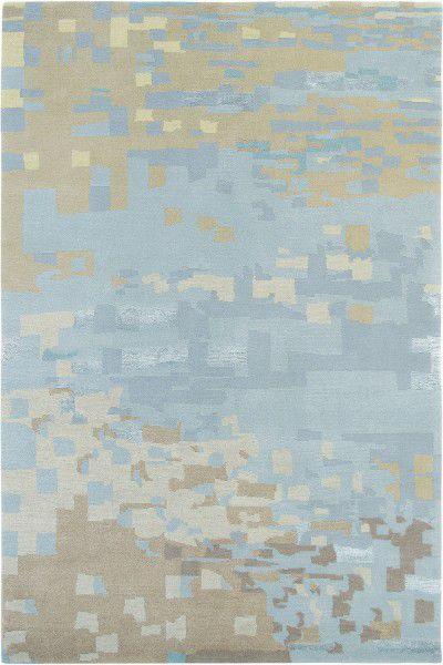 Teppich Brink Campman Yara Mist 134218 Blau Braun Raum Quadrat