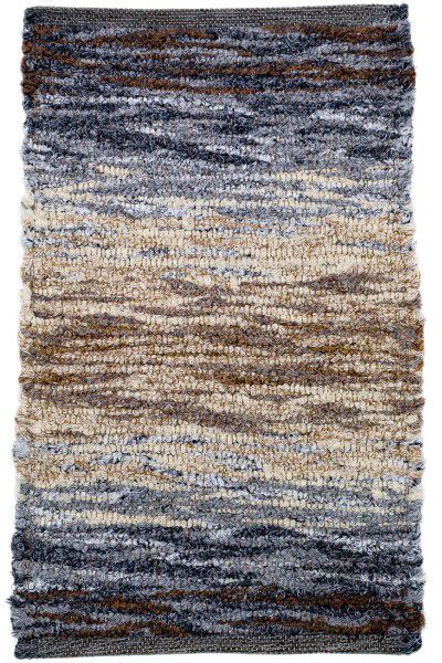 Kurzflor Designer Teppich Paulig Life Flow 63 blau beige