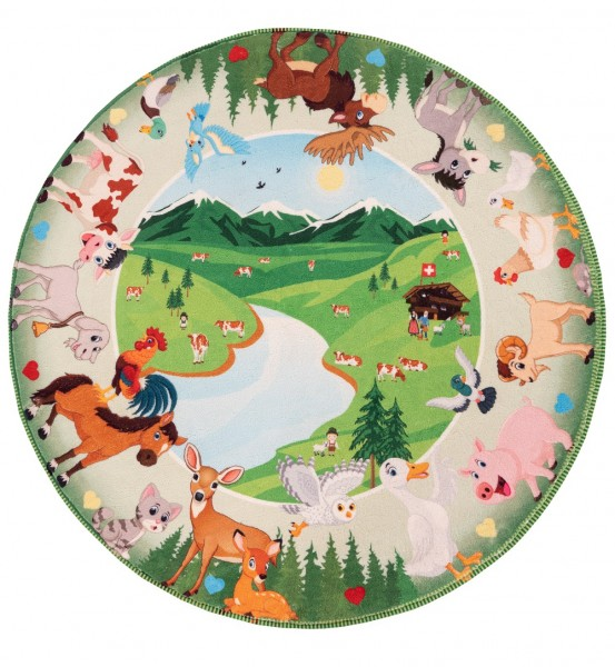 Kinder Teppich Obsession Juno 476 Mountains multicolor