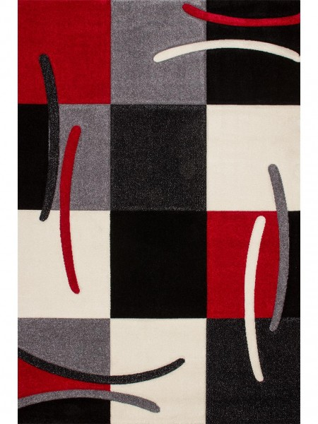 Kurzflor Designer Teppich California 139-800 rot