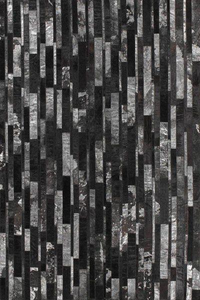 Fell Teppich Angelo Star 3115-50 silber schwarz