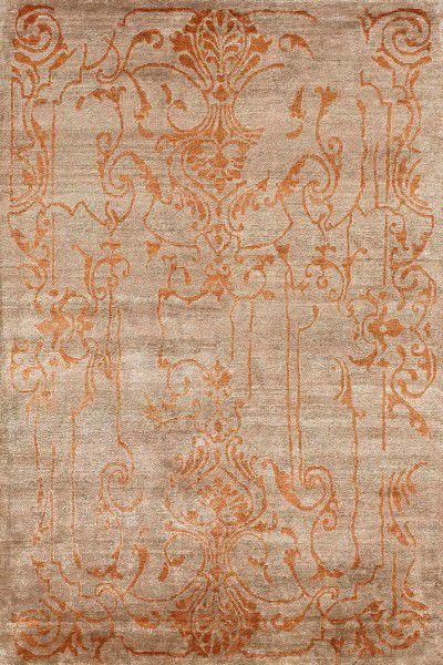 Kurzflor Designer Teppich Angelo Silky Design 3060-52 taupe orange
