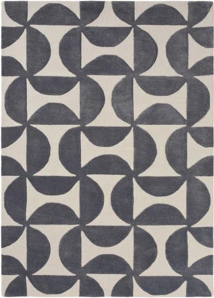 Teppich Scion Forma 26205 Liquorice silber grau