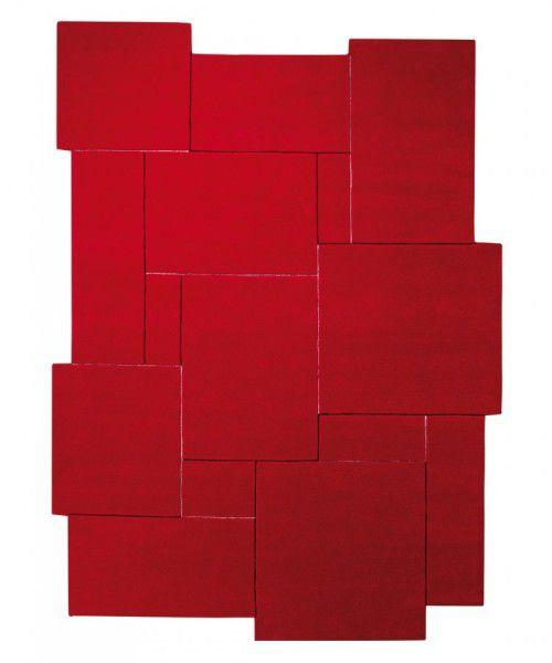 Teppich Esprit Puzzle ESP-3119-04 rot 90 x 160 cm