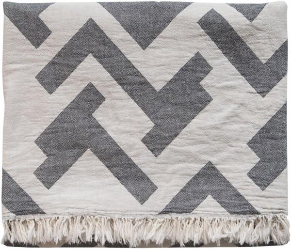 Decke Baumwolle Brita Sweden Florens iron / grau