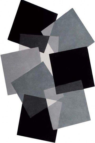 Teppich Angelo Pebbles Quadrate 9718-500 schwarz grau