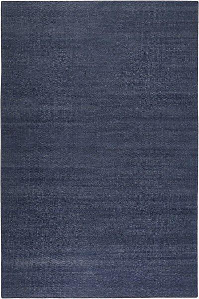 Kurzflor Designer Teppich Esprit Rainbow Kelim ESP-7708-13 navy blau