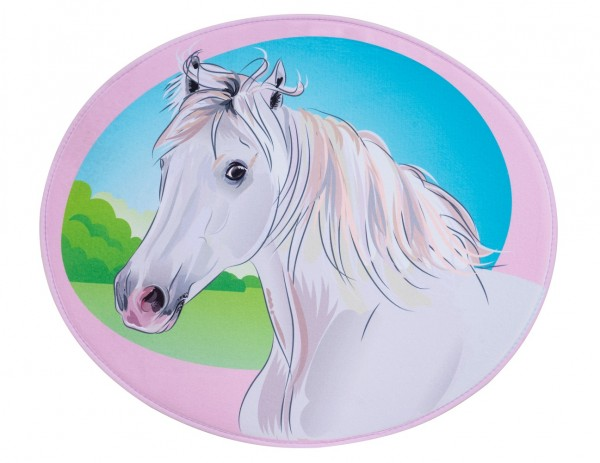 Kinder Teppich Obsession Mila Kids 141 Horse rosa silber