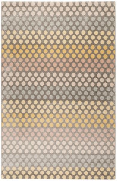 Kurzflor Designer Teppich Esprit Spotted Stripe ESP-80274-095 braun multicolor