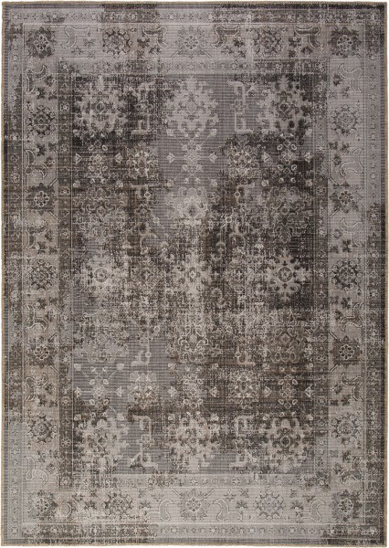 Kurzflor Designer Teppich Obsession Tilas 244 grau