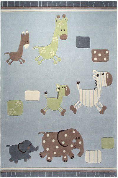 Kinder Teppich Esprit Lucky Zoo ESP-2842-02 blau