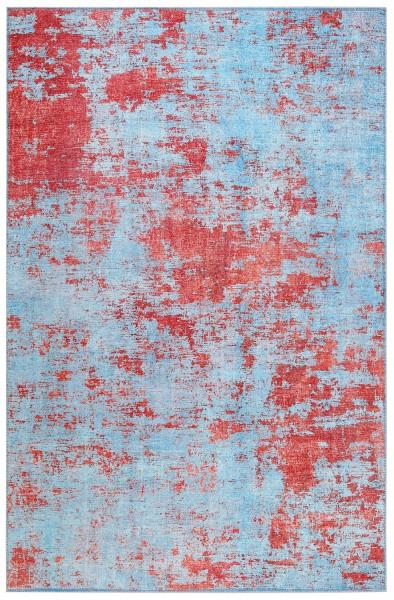 Kurzflor Designer Teppich Wecon Home Hot Spring WH-18003-04 blau orange