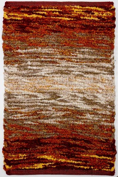 Kurzflor Designer Teppich Paulig Life Flow 61 rot