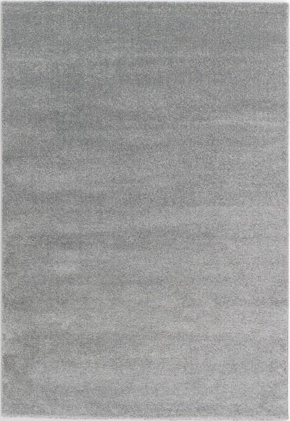 Kurzflor Designer Teppich Schöner Wohnen Pure 190 004 silber