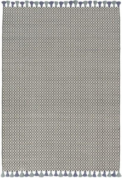 Kurzflor Designer Teppich Schöner Wohnen Insula 6016 191 030 schwarz weiss grün blau
