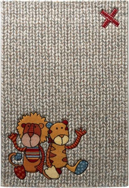 Kinder Teppich Sigikid Patchwork Sweetys SK-21966-761 beige rot