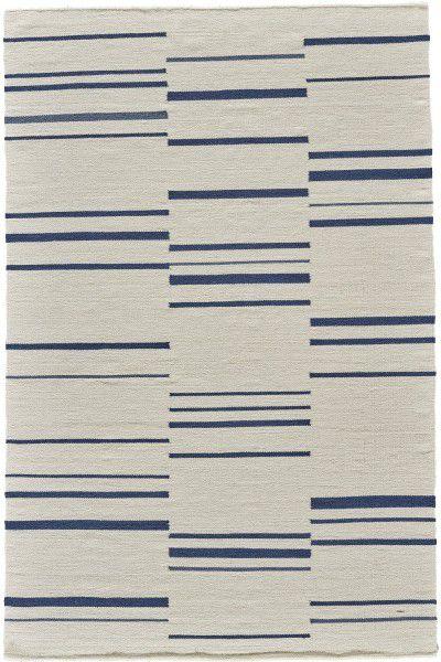 Kurzflor Designer Teppich Angelo Hazara 3030-620 creme blau