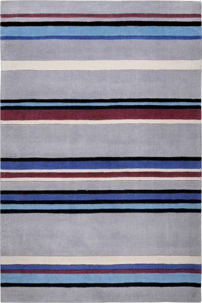 Teppich Tom Tailor Life Stripes blau grau 65 x 135 cm
