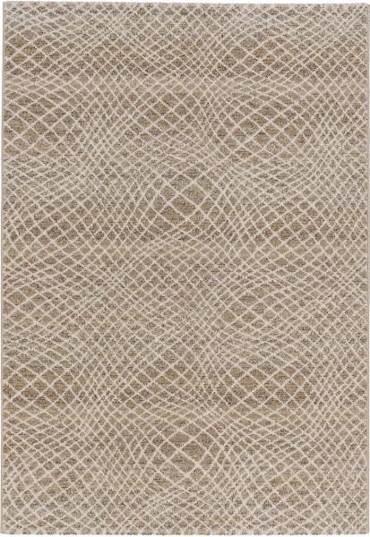 Kurzflor Designer Teppich Astra Carpi Gitter 151 006 beige
