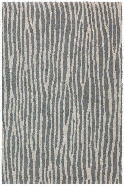 Kurzflor Designer Teppich Brink & Campman Spheric Zebra grau