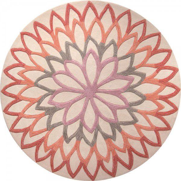 Kurzflor Designer Teppich Esprit Lotus Flower ESP-4007-03 orange