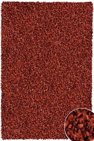 Hochflor Shaggy Teppich Twilight 1188 terracotta