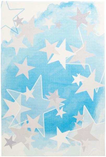 Kinder Teppich Obsession Stars 410 blau