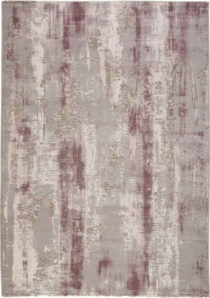 Kurzflor Designer Teppich Obsession Bolero 810 lavender / lila grau