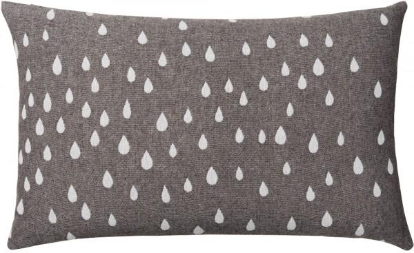 Kissen Merinowolle Brita Sweden Raining clay / grau