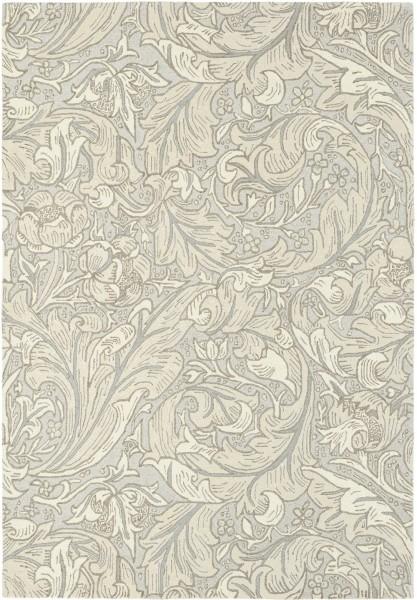 Kurzflor Designer Teppich Morris & Co Bachelors Button 28209 Linen silber creme