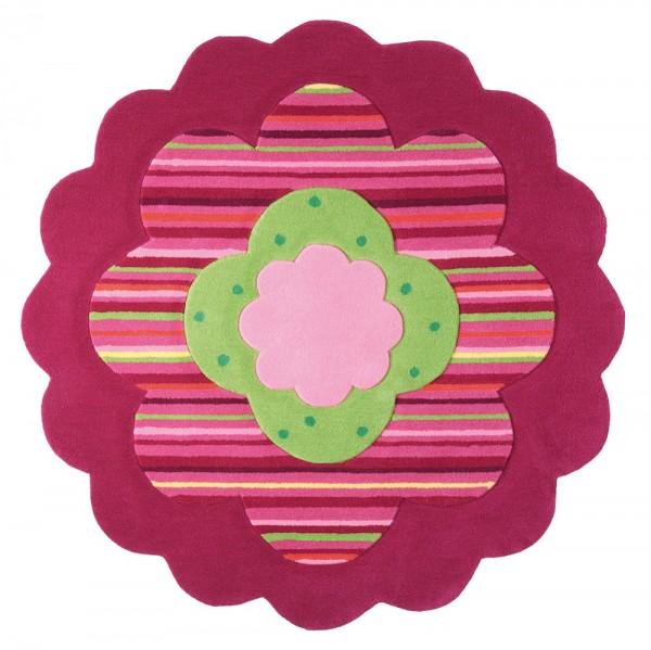 Teppich Esprit Flower Shape ESP-2840-06 rosa