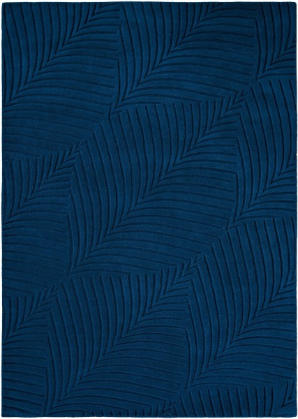 Kurzflor Designer Teppich Wedgwood Folia 38308 navy blau