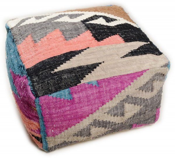 Tom Tailor Sitzkissen pouf tom tailor vintage funky kelim 800 multicolor raum quadrat
