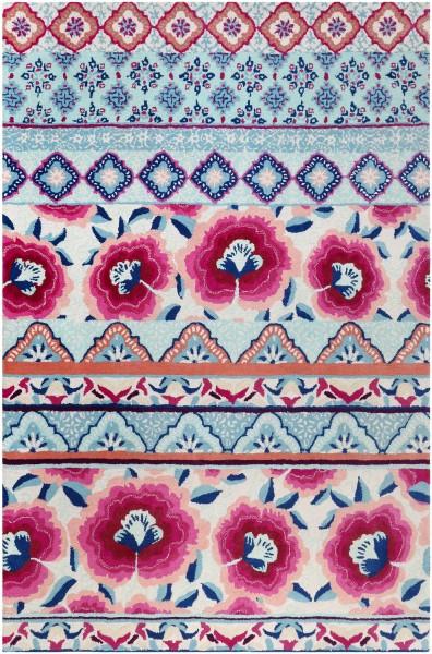 Kurzflor Designer Teppich Accessorize Pink Poppy ACC-005-10 pink blau