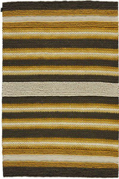 Kurzflor Designer Teppich Angelo Mood 5906-530 braun gelb