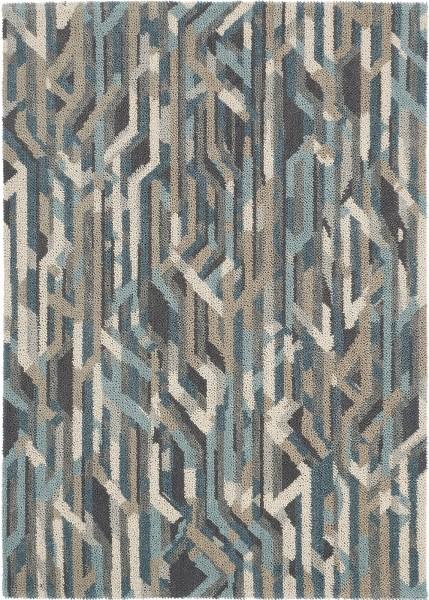 Kurzflor Designer Teppich Brink & Campman Dart Metro 023004 grau blau