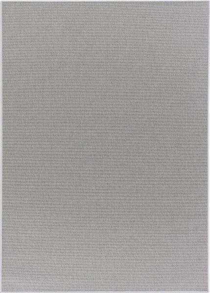 Kurzflor Designer Teppich Schöner Wohnen Yucca 190 004 silber / Bordüre 004 silber