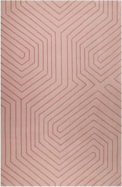 Kurzflor Designer Teppich Esprit Raban ESP-4183-03 rosa