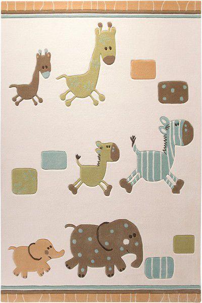 Kinder Teppich Esprit Lucky Zoo ESP-2842-03 beige