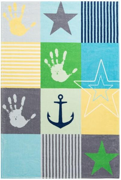 Kinder Teppich Obsession Stars 411 blau