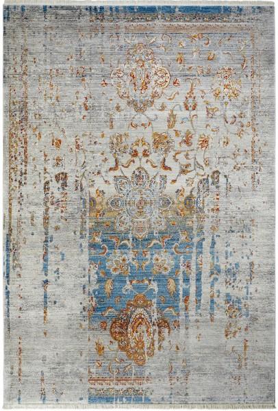 Kurzflor Designer Teppich Obsession Laos 453 blau