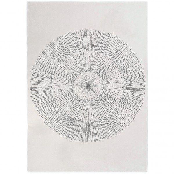 Teppich Edito Pissenlit AR007 grau in 160 x 230 cm